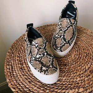 • Zara Snakeskin Slip-on Sneakers •